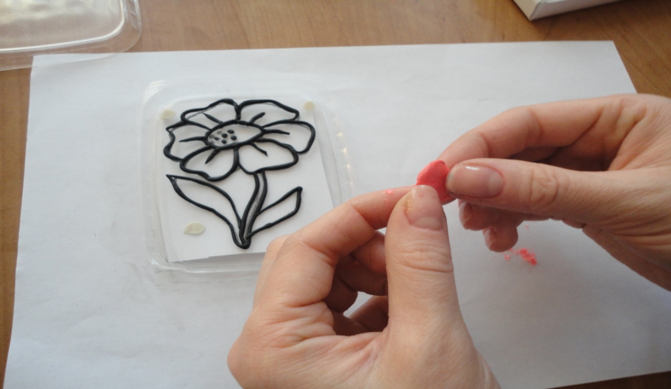 Приемы лепки цветка