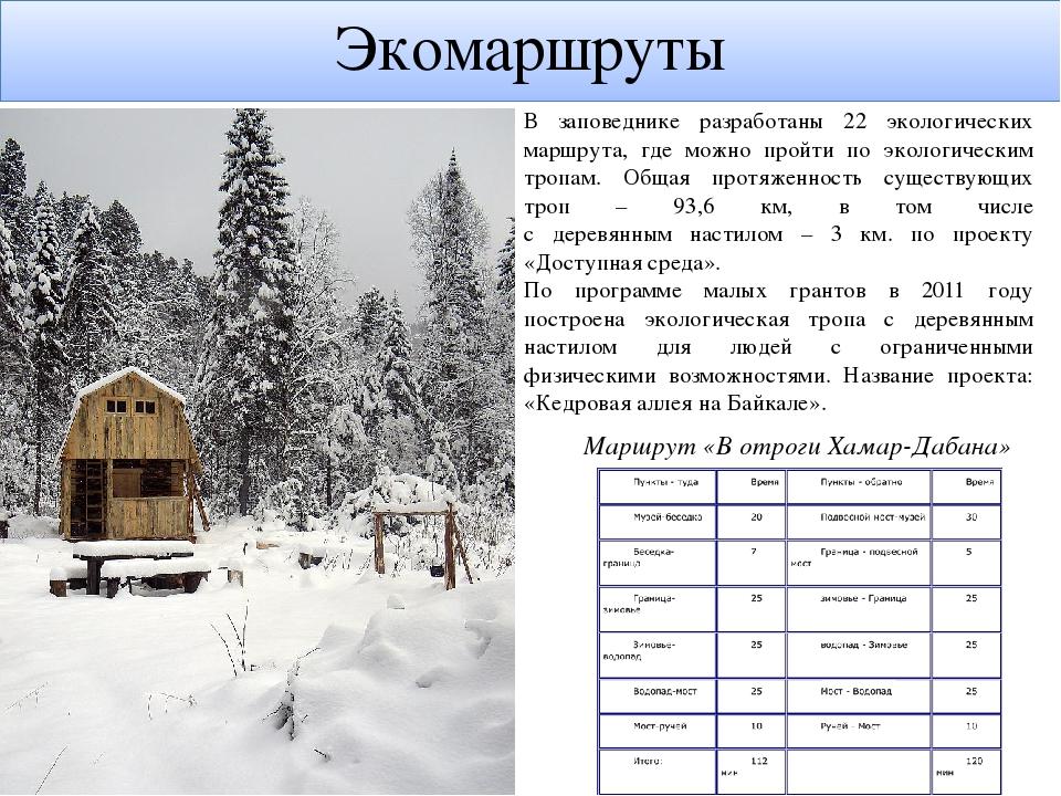 Экомаршруты В заповеднике разработаны 22 экологических маршрута, где можно пр...
