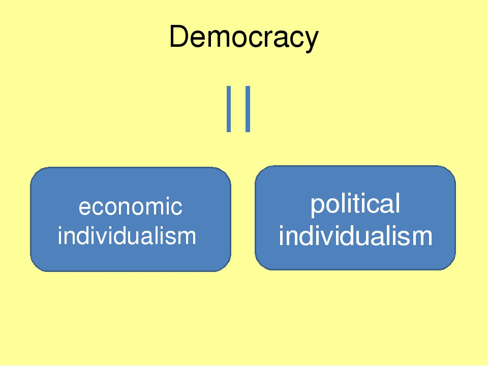 democracy individualism essay Democracy vs individualism limited time offer at lots of essayscom we have made a special deal with a well known professional research paper company to offer you up to 15 professional research papers per month for just $2995.