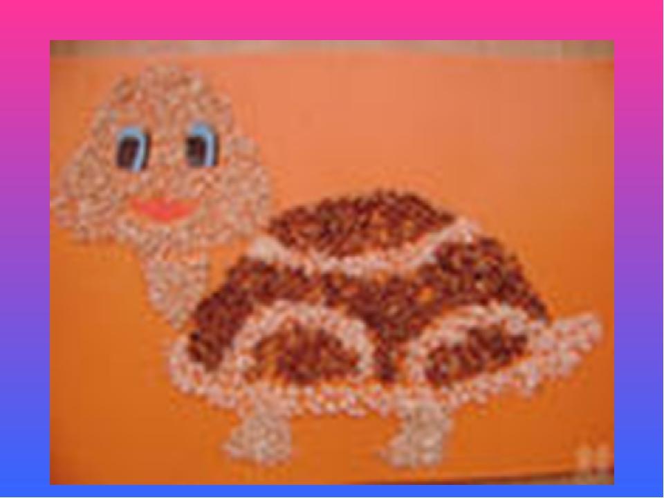 Поделка из крупы своими руками для детей картинки фигуры
