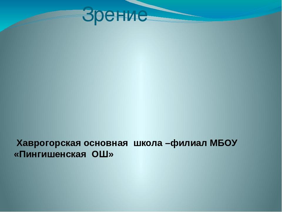 Зрение Хаврогорская основная школа –филиал МБОУ «Пингишенская ОШ»