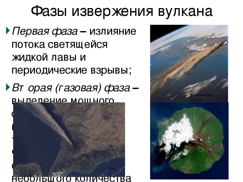 Предвестники извержения Сейсмические колебания (подземные толчки) Рост вулкан...