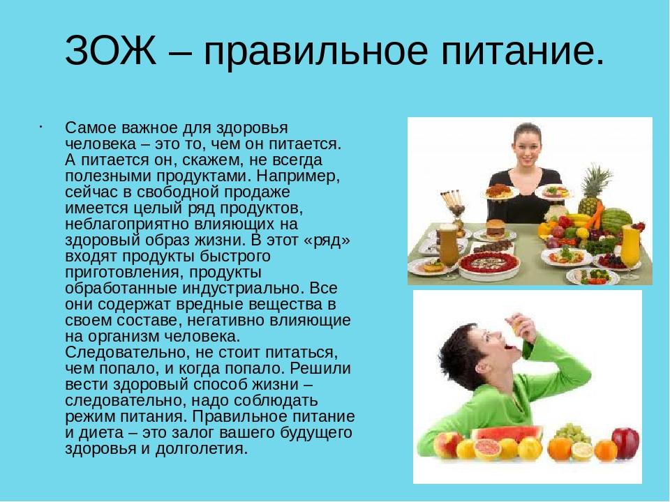Реферат правильное питание с картинками