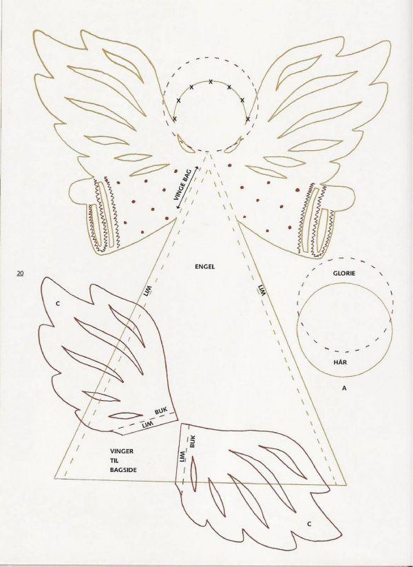 Объемная открытка ангелы шаблоны, счастьем добрым утром
