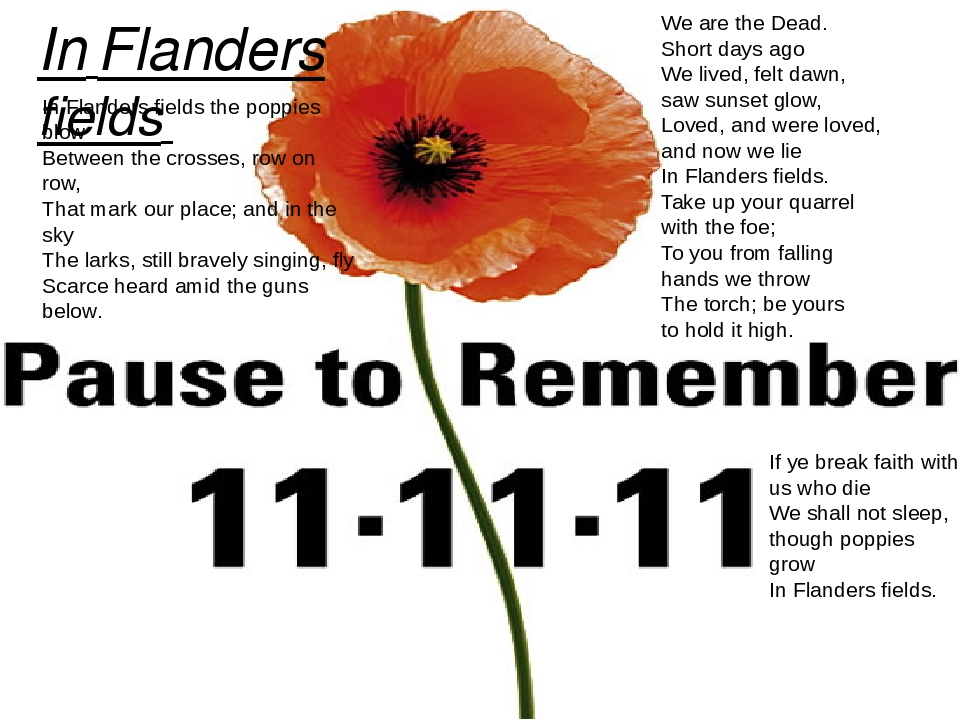 presentation of in flanders fields script This website and its content is subject to our terms and conditions tes global ltd is registered in england (company no 02017289) with its registered office at 26 red lion square london wc1r 4hq.