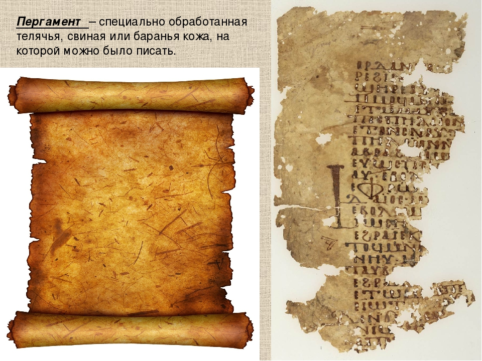 Картинка пергамент для письма