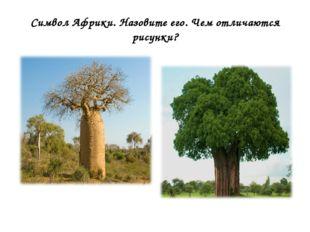 Символ Африки. Назовите его. Чем отличаются рисунки?