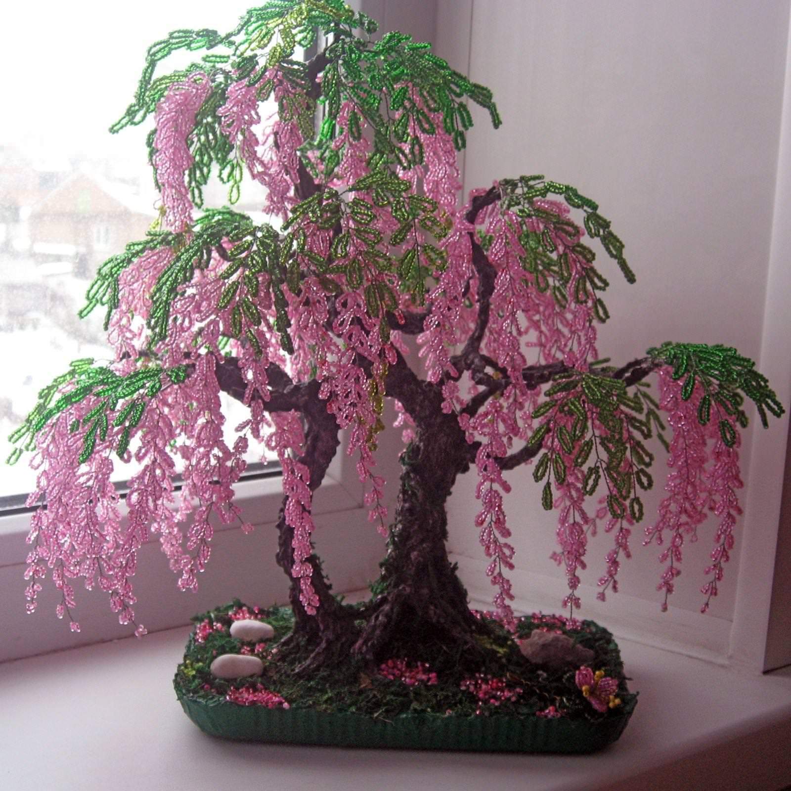 Большие бисерные деревья фото и названия