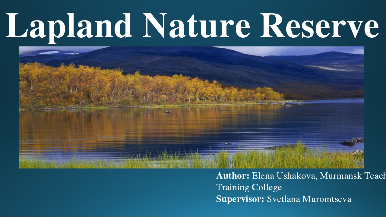 The reserve of Lapland in the Murmansk region: territory, plants and animals 15