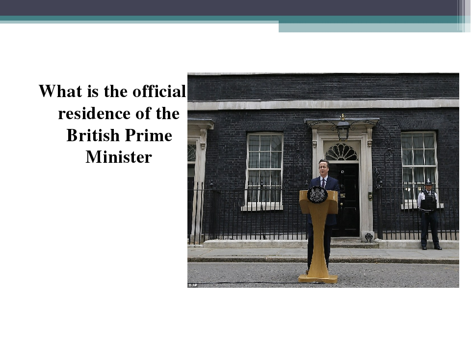 What is the official residence of the British Prime Minister