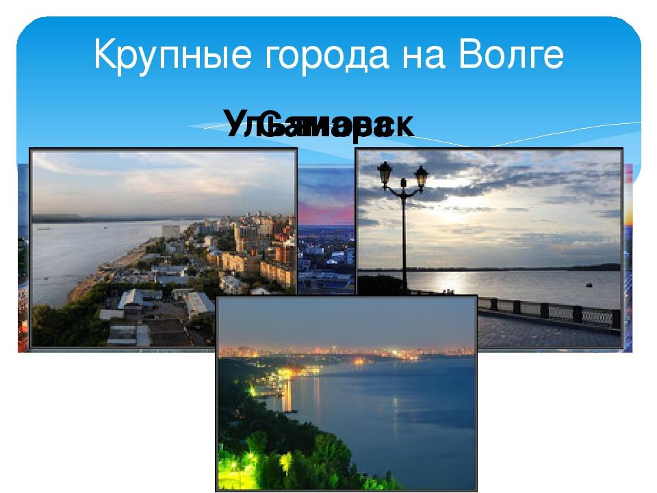 Крупные города на Волге Ульяновск Самара