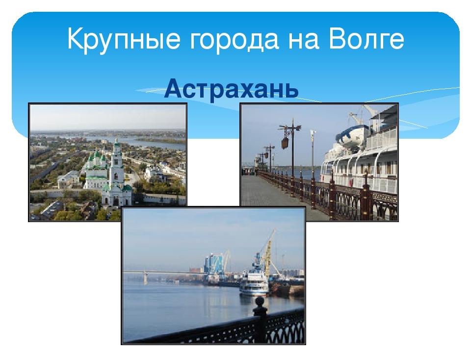 Астрахань Крупные города на Волге