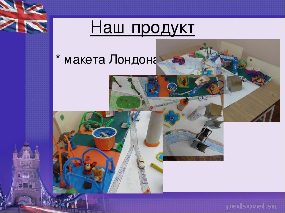 Наш продукт * макета Лондона