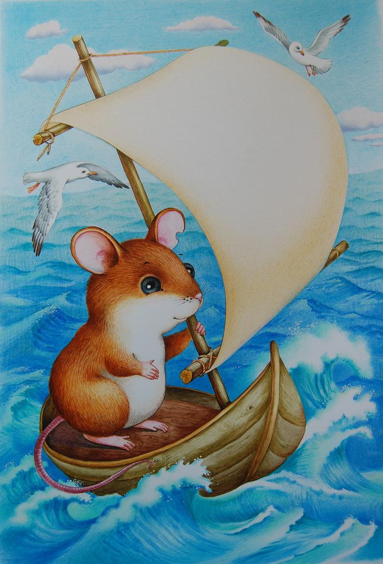 Открытка, сказка в картинках мышонок пик