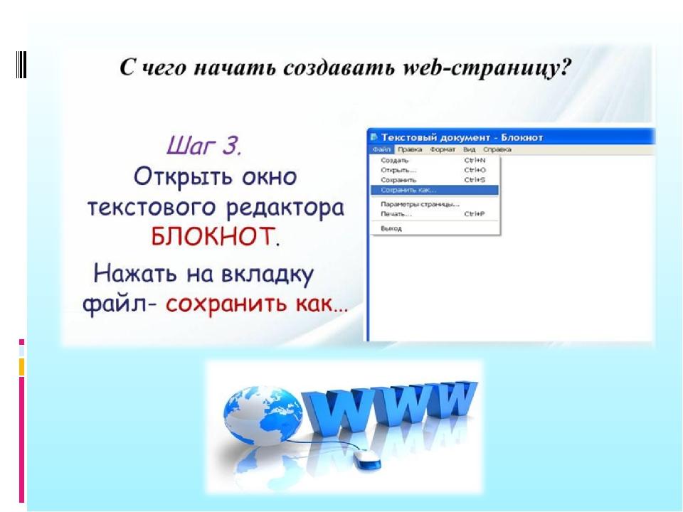 Создание web сайта информатика какой программой пользоваться при создании сайта