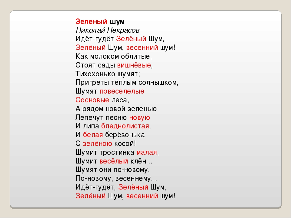 Очерк чуковского зеленый шум