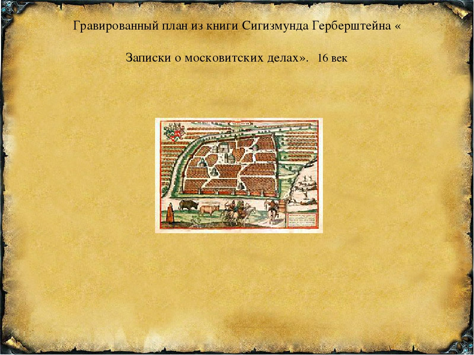 Гравированный план из книги Сигизмунда Герберштейна «Записки о московитских д...