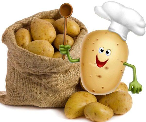 Для работы, смешная картинка про картошку