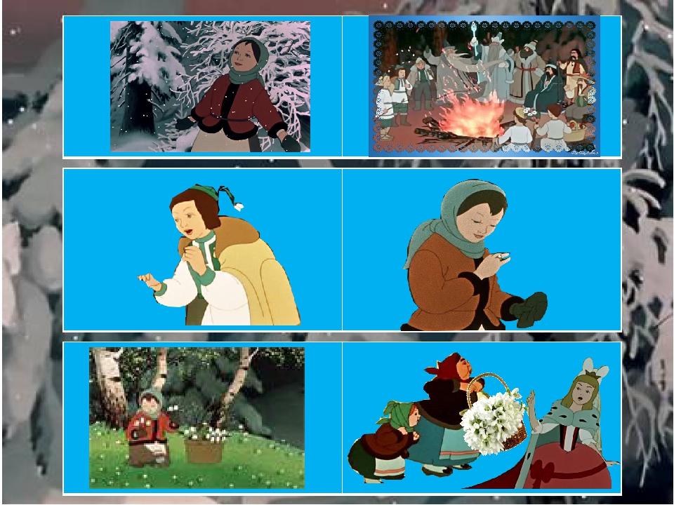 Сказка двенадцать месяцев картинки по сказке