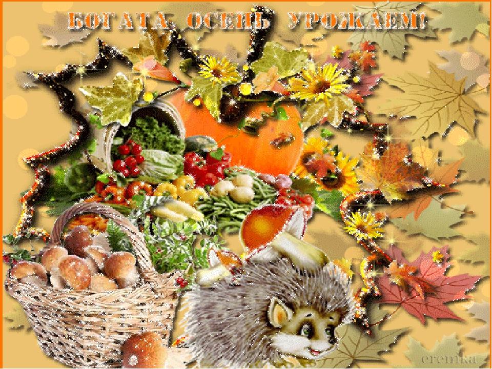 Смешного зайчика, открытка праздник осень