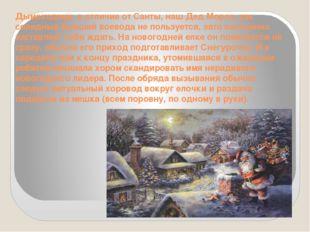 Дымоходами, в отличие от Санты, наш Дед Мороз, как солидный бывший воевода не