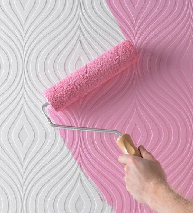 покраска стен вместо обоев