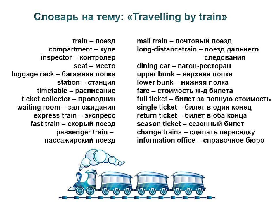 Слова связанные с путешествие на английском