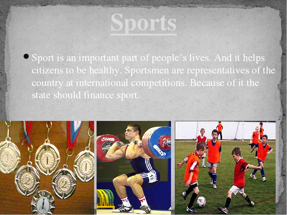 sport is an important part of