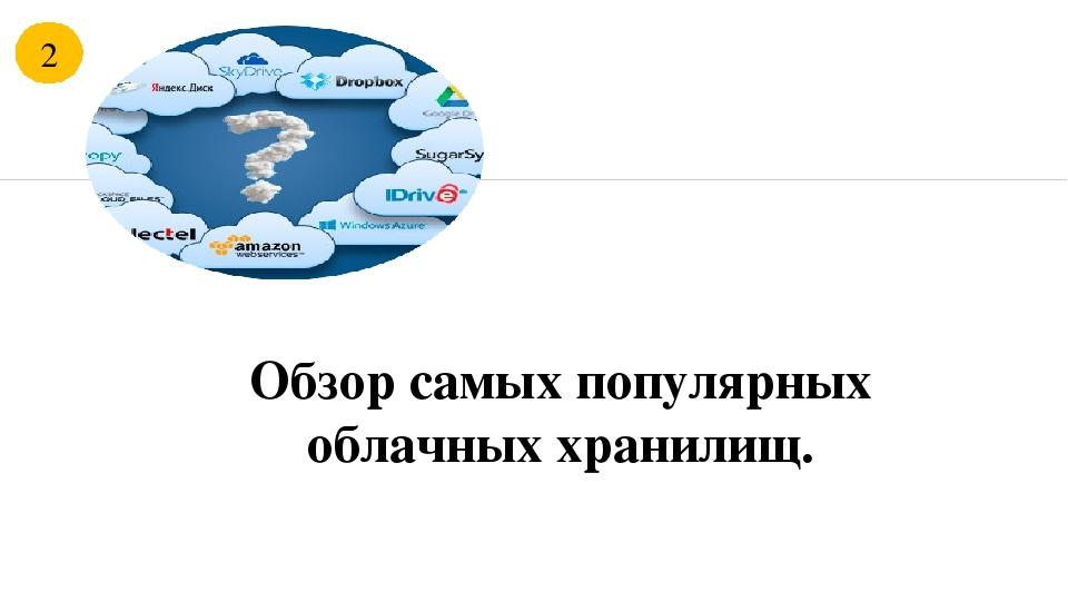 Самые популярные облачные хранилища
