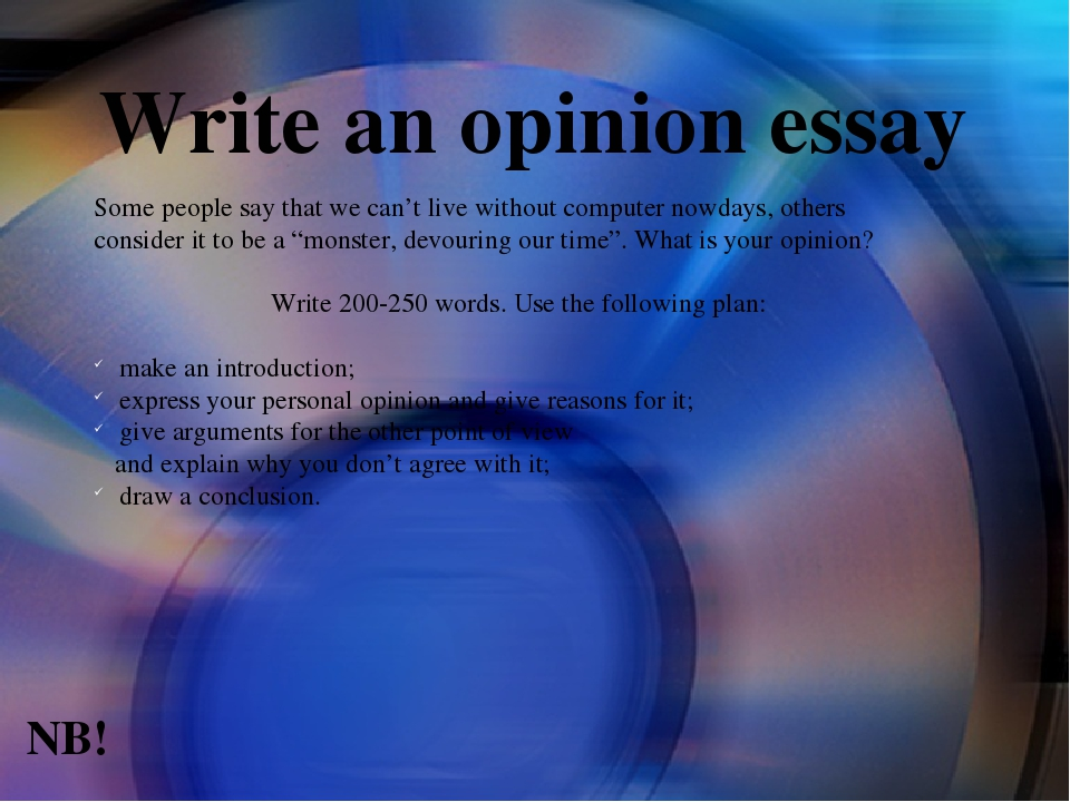 writing an opinion essay video