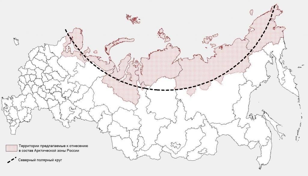 Города крайнего севера россии карта