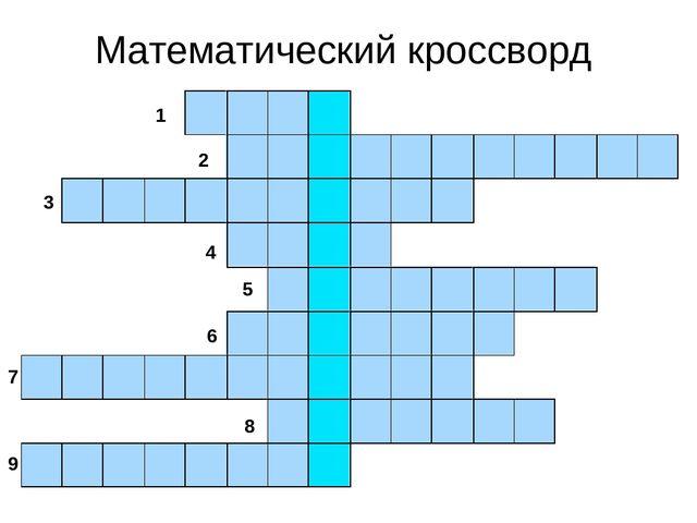 кроссворд по алгебре 8 класс с ответами и вопросами