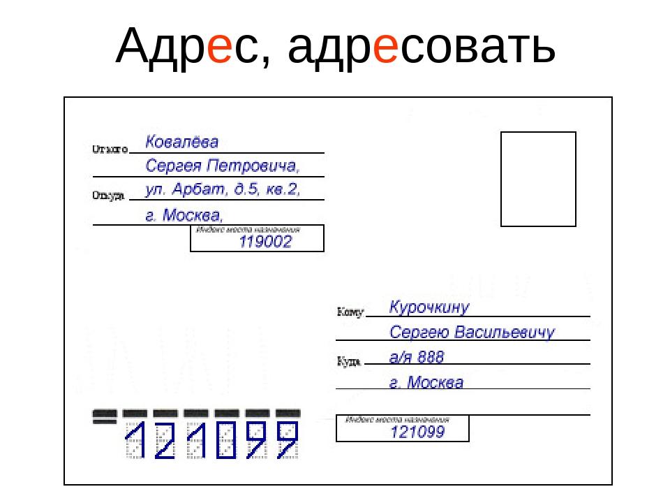Летием, образец заполнения открытки на почту на английском