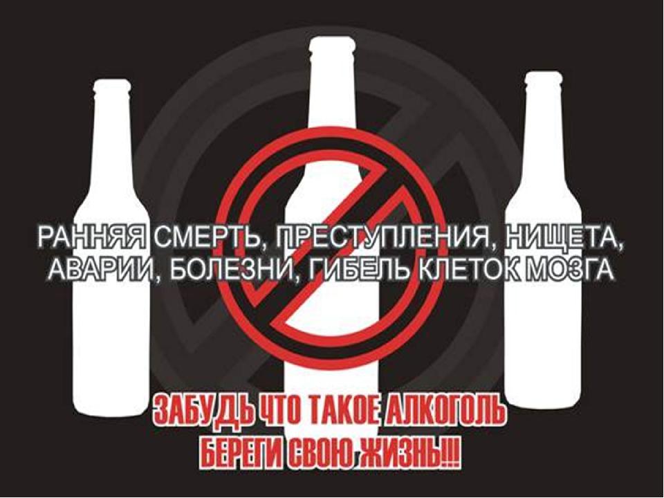 плакат на тему вред алкоголя чуть
