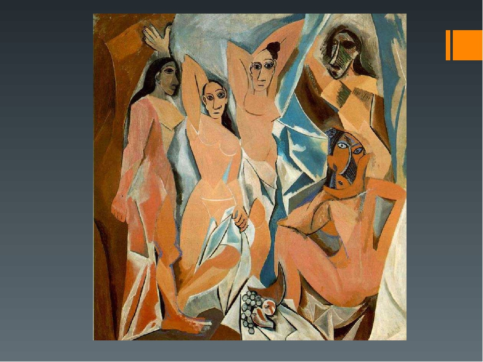 les demoiselles d avignon and cubism Les demoiselles d'avignon, one of pablo picasso's most famous works, was painted in france and completed in the summer of 1907 a seminal work in the development of cubism, picasso's eye-catching depiction of five prostitutes in a brothel revolutionized the art world.