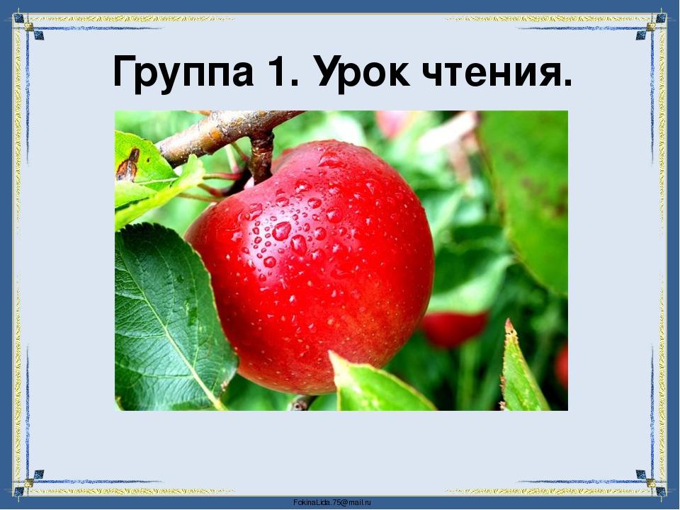 Группа 1. Урок чтения. FokinaLida.75@mail.ru