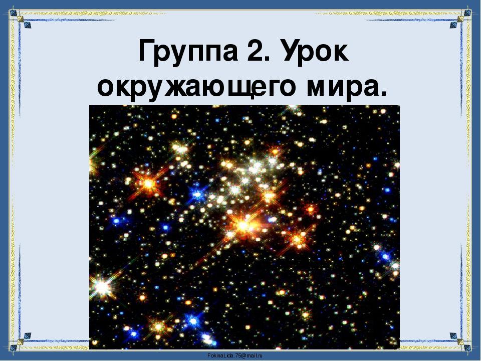 Группа 2. Урок окружающего мира. FokinaLida.75@mail.ru