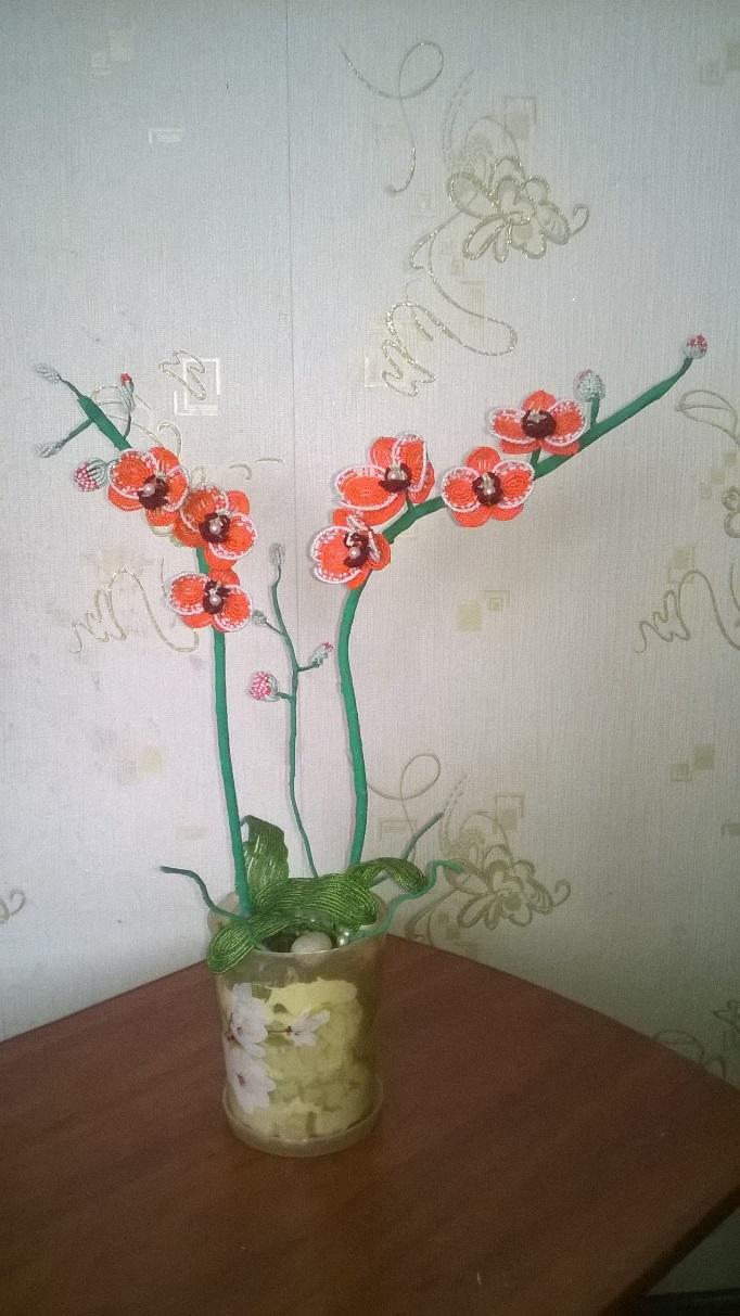 творческий проект по технологии бисероплетение орхидеи