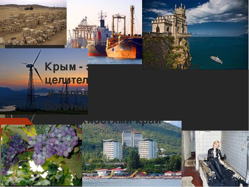 Крым - это соединение всех целительных сил природы и заповедник её чудес, а т...