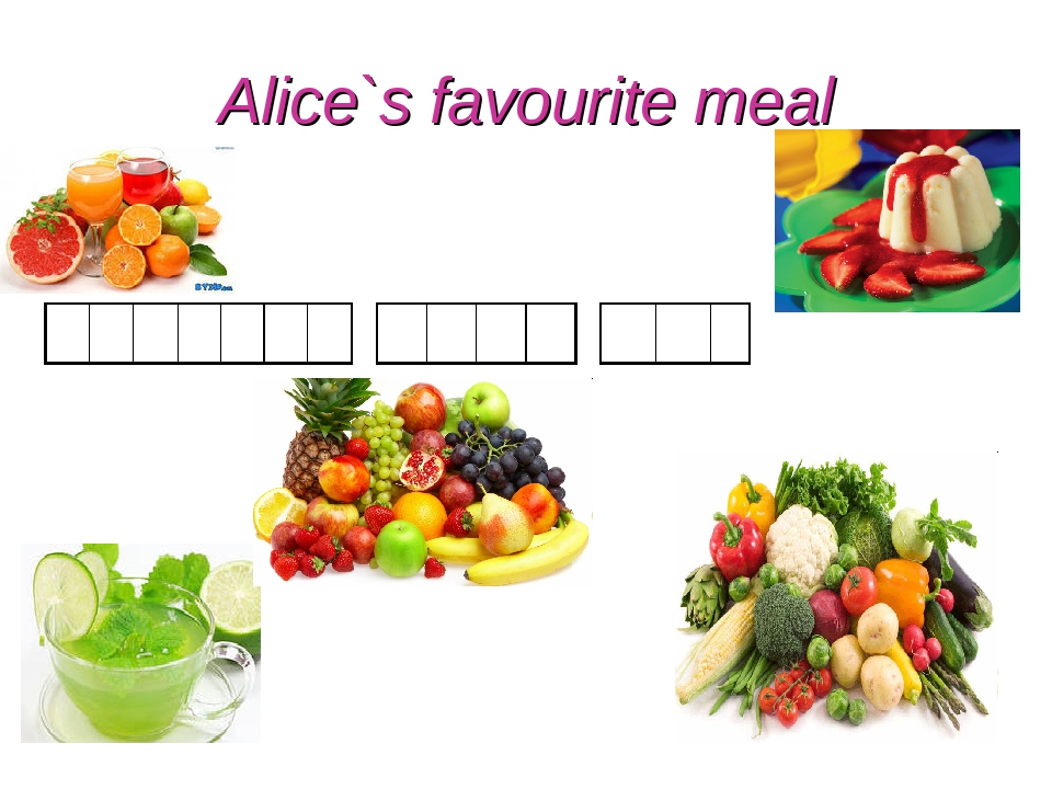 Alice`s favourite meal