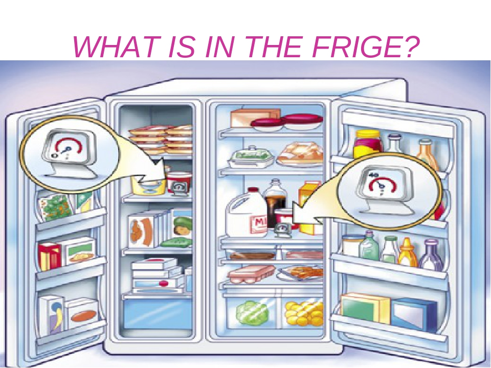 WHAT IS IN THE FRIGE? At home