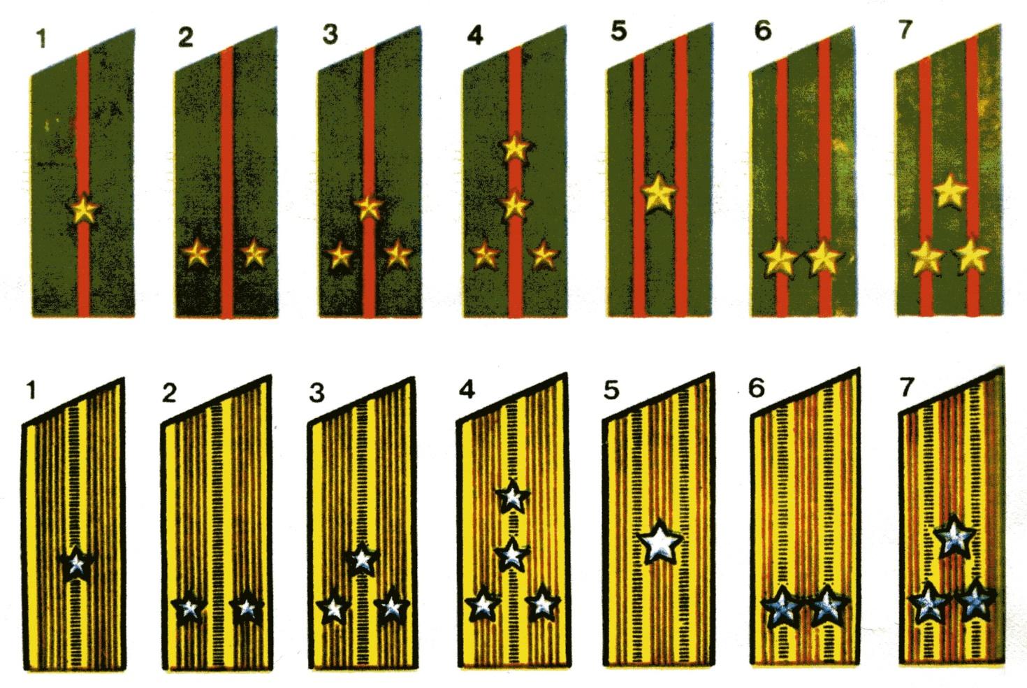 Армейские звания в картинка