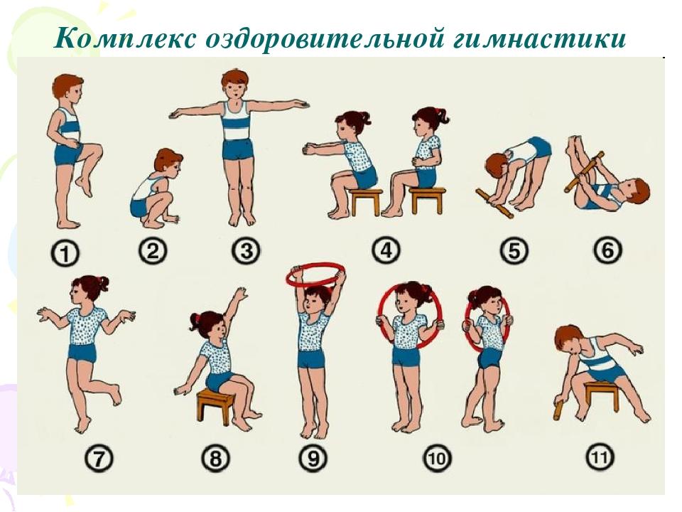 Комплекс детских упражнений в картинках