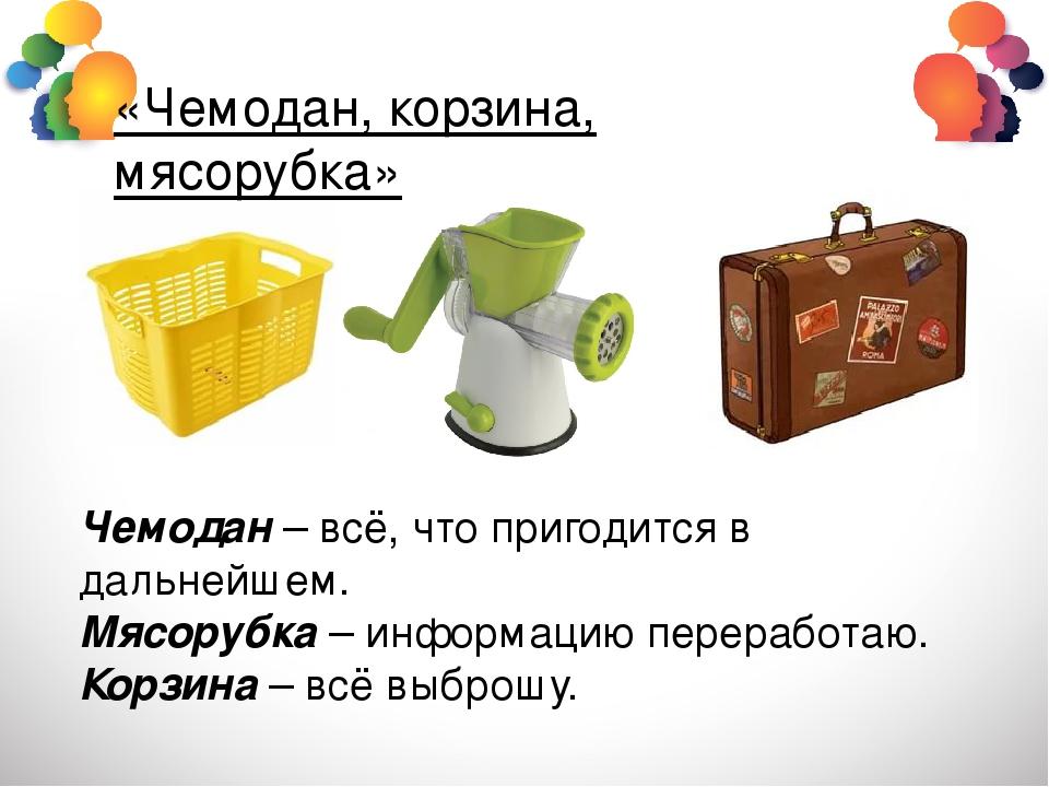Картинка чемодана корзины мясорубки