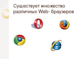 Существует множество различных Web- браузеров
