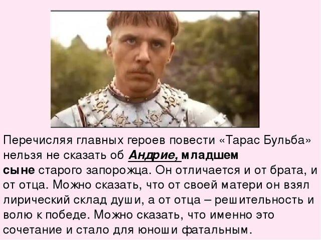 Главные Герои В Рассказе Тарас Бульба