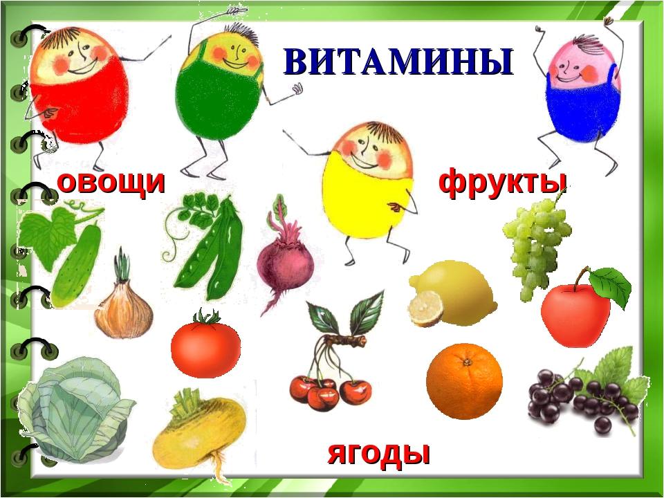 Витамины и фрукты в картинках для детей
