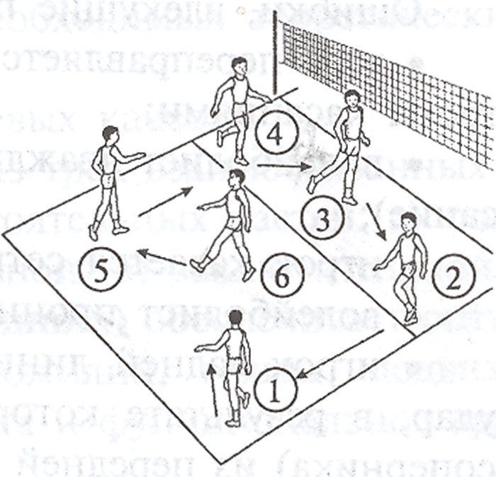 схема перехода игроков в волейболе в картинках начали добывать лопаритовую