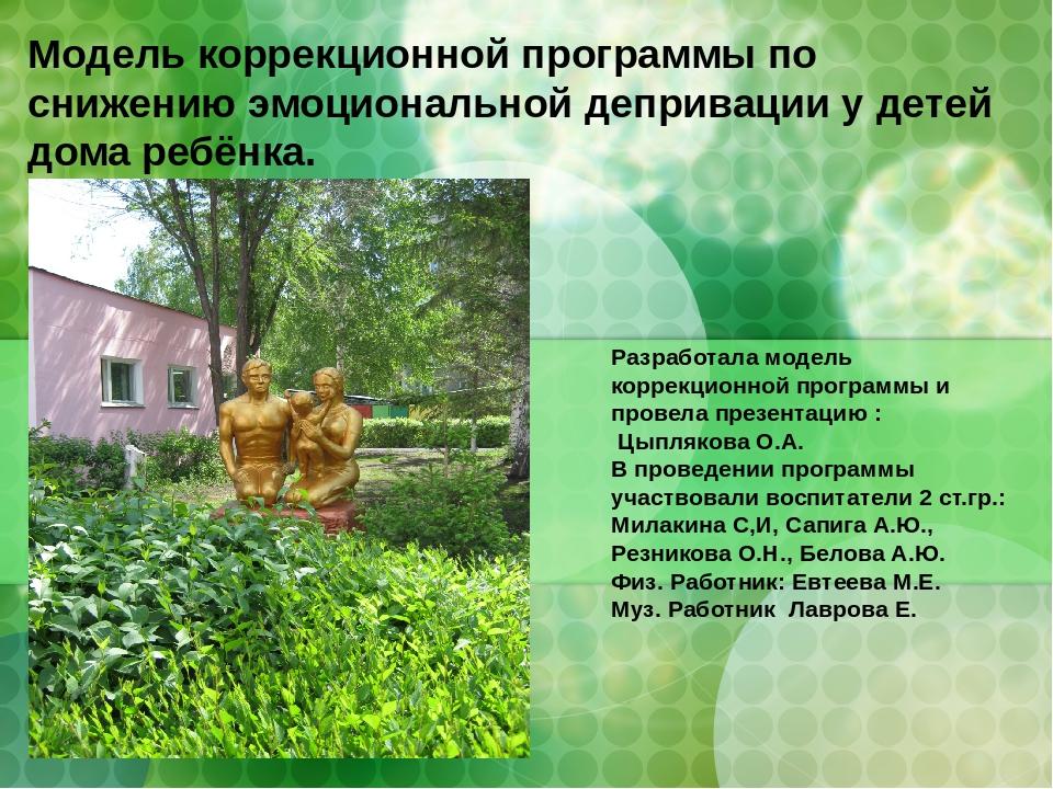 Модели коррекционной работы презентация павловская киев