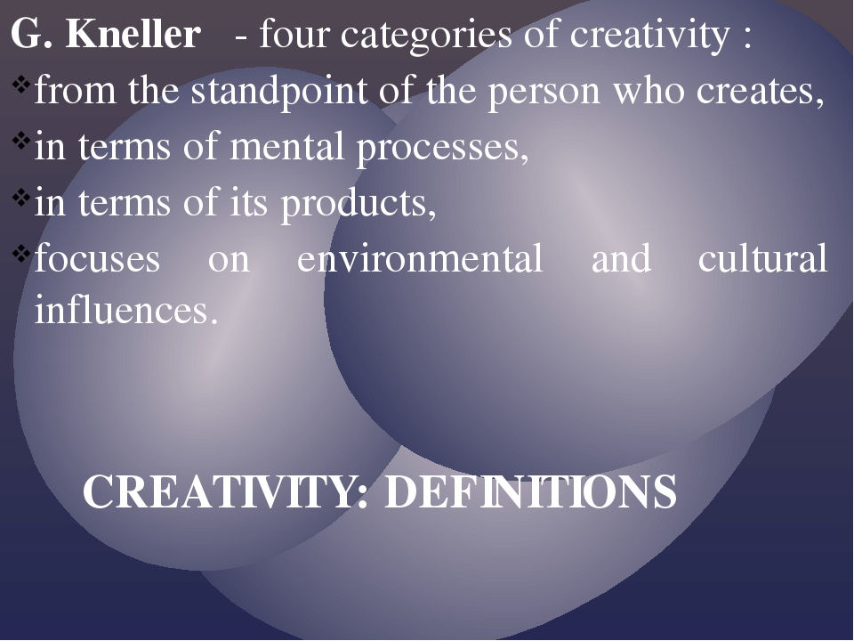G. Kneller - four categories of creativity : from the standpoint of the perso...